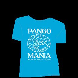 t-shirt pangolin bleu