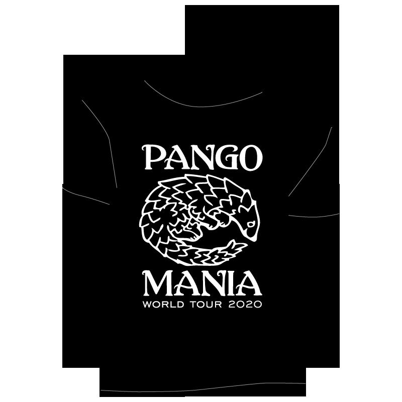 t-shirt pangolin noir