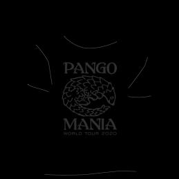 t-shirt pangolin noir sur noir