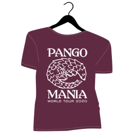 t-shirt pangolin bordeaux
