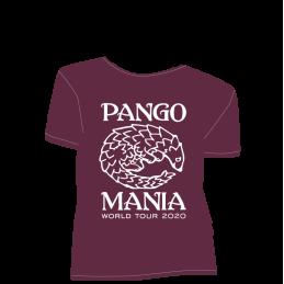t-shirt pangolin bordeaux