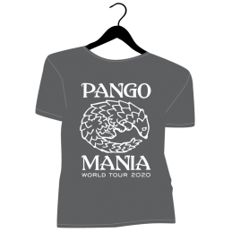 t-shirt pangolin gris foncé