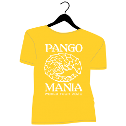 t-shirt pangolin jaune gold