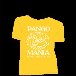 t-shirt pangolin jaune gold