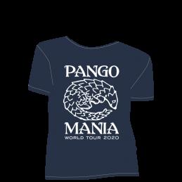t-shirt pangolin bleu marine