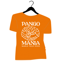 t-shirt pangolin orange