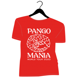 t-shirt pangolin rouge