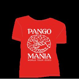 t-shirt pangolin rouge