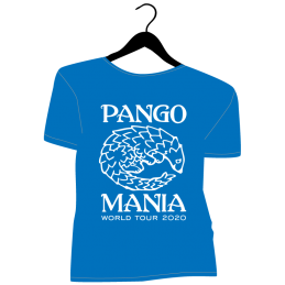 t-shirt pangolin bleu royal
