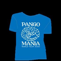 t-shirt pangolin bleu royal