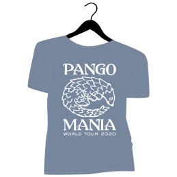 t-shirt pangolin stone blue