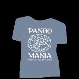 t-shirt pangolin stone blue