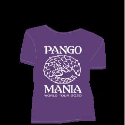 t-shirt pangolin violet