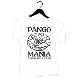 t-shirt pangolin blanc