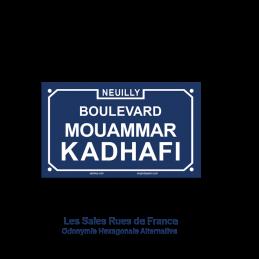 Boulevard MOUAMMAR KADHAFI