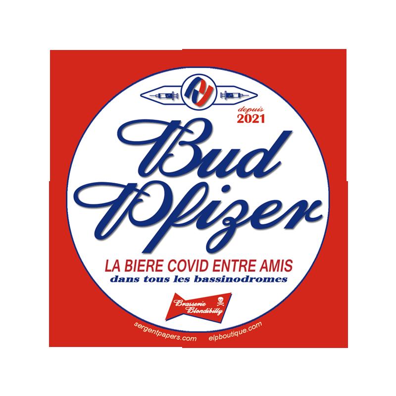 Magnet Bud Pfizer parodie budweiser