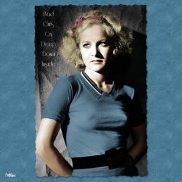 bad girls cry deep down inside greta granstedt carte postale vintage melblanc