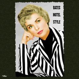 Bates motel style janet leigh psycho hitchcock anthony perkins carte postale vintage melblanc