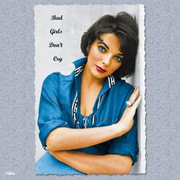 Bad girls dont cry joan collins carte postale vintage melblanc