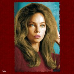 bad girls don't cry leslie caron carte postale vintage melblanc