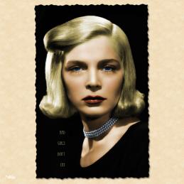 bad girls don't cry lizabeth scott femme fatale film noir carte postale vintage melblanc