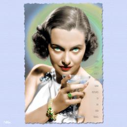 bad girls don't need good reasons to do bad things luli deste carte postale vintage melblanc