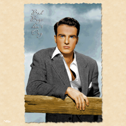 bad boys don't cry montgomery clift monty carte postale vintage melblanc