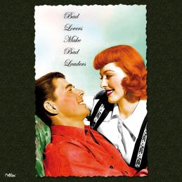 bad lovers make bad leaders ronald reagan eleanor parker carte postale vintage melblanc