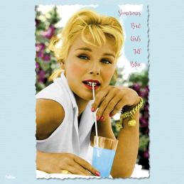 sometimes bad girls fill blue susanne cramer carte postale vintage melblanc